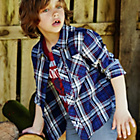 more details on Cherokee Boys' Navy and Burgundy Check Shirt.