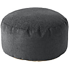 more details on Tessa Polyester Bean Footstool - Charcoal.