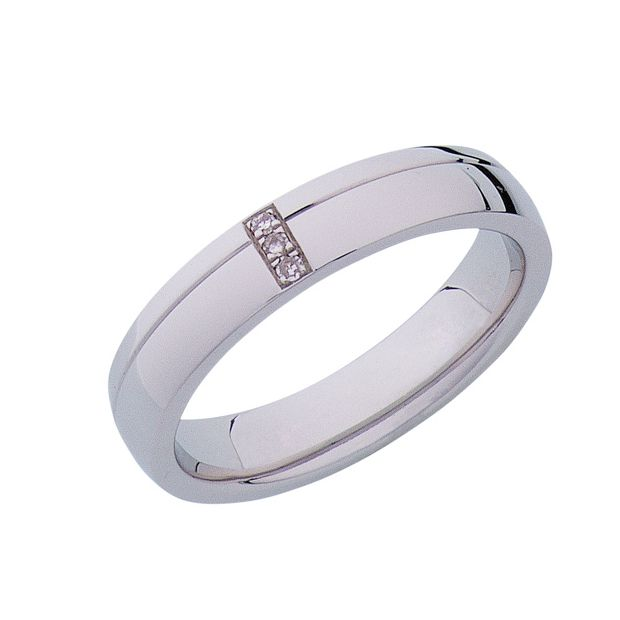 Buy Sterling Silver Diamond Set Wedding Ring At Argos.co