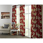 more details on Heart of House Felicity Lined Eyelet Curtains - Red.