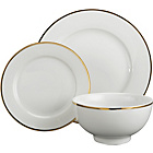 more details on Heart of House 12 Piece Dinner Set - Gold Rim.