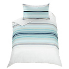 more details on Stripy Blue Twin Pack Bedding Set - Single.