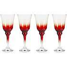 more details on 4 Piece Chunky Wine Glass Set - Red.