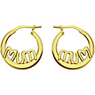 more details on 9ct Bonded Gold 'Mum' Creole Earrings.