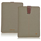 more details on NueVue Cotton Twill iPad Case - Khaki/Pink