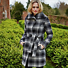 more details on Cherokee Women's Grey Wool Rich Check Coat. .