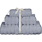 more details on Heart of House 3 Piece Ribbed Towel Bale - Grey.