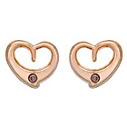 more details on 9ct Gold Diamond Accent Open Heart Earrings.