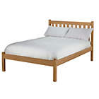 more details on Silbury Double Bed Frame - Solid Pine With an Oak Stain.