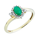 more details on 9ct Gold 0.10ct Diamond Emerald Cluster Ring.