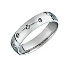 more details on Sterling Silver 0.10ct Diamond Wedding Band.
