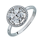 more details on Rhodium Plated Silver Shimla Cubic Zirconia Flower Ring.
