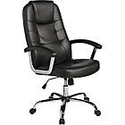 Chicago Leather Effect Height Adjustable Office Chair-Black