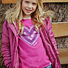 more details on Cherokee Pink Heart Print T-Shirt - 9-10 Years.