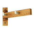 more details on 4 Hook Mondeo Solid Oak Wall Rack- Oak.