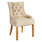 more details on Heart of House Pair of Cream Button Detail Dining Chairs.
