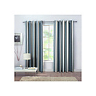 more details on Rossini Stripe Unlined Curtains - 168 x 183cm - Blue.