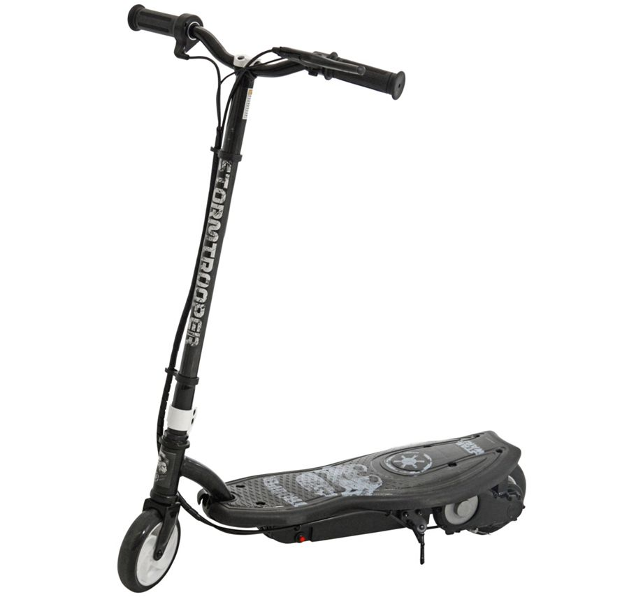 new star wars stormtrooper push go electric scooter 120w. Black Bedroom Furniture Sets. Home Design Ideas