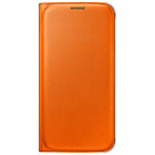 more details on Samsung Galaxy S6 Flip Wallet Cover - Orange