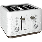 Morphy Richards 248102 Prism Four-Slice Toaster - White