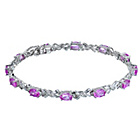 more details on White gold and Created pink Sapphire and Diamond Bracelet.