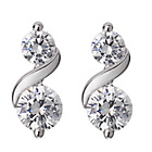 more details on Platinum Plated Cubic Zirconia Double Twist Stud Earrings.