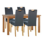 more details on Wilden Oak Effect 120cm Table and 4 Charcoal Midback Chairs.