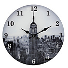 more details on Collection New York Skyline Glass Wall Clock.