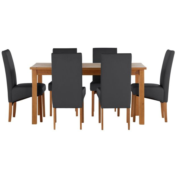 Buy Home Jackson Solid Wood Table Amp 6 Skirted Chairs