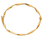more details on 9ct Gold Twist Oval Bangle.