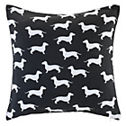 more details on Dog Print Cushion - Black.