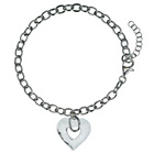 more details on Opulenza Silver Large Crystal Heart Charm Clear Bracelet.