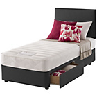 more details on Layezee Calm Memory Micro Quilt Single 2 Drawer Divan Bed.
