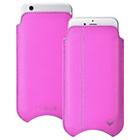 more details on NueVue Leather iPhone 4 4s and 5c Case - Pink/Green