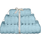 more details on Heart of House 3 Piece Ribbed Towel Bale - Soft Blue.