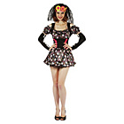 more details on Womens Day Of The Dead Darling Costume 12-14