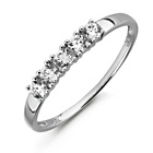 more details on 9ct White Gold Cubic Zirconia 5 Stone Half Eternity Ring.