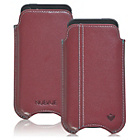 more details on NueVue Leather iPhone 4 4s and 5c Case - Burgundy/Orange