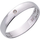 more details on 9ct White Gold Diamond Messaged Wedding Ring.
