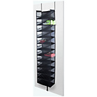 more details on 24 Pocket Over Door Shoe Storage Organiser - Black