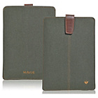 more details on NueVue Cotton Twill iPad Case - Green/Orange