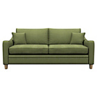 more details on Heart of House Newbury Large Fabric Check Sofa - Olive.