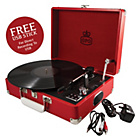 more details on GPO Attache 3 Speed Portable USB Turntable - Pillar-Box Red.