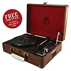 more details on GPO Attache 3 Speed Portable USB Turntable - Vintage Brown.