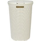 more details on Curver 48 Litre Round Hamper - Cream.