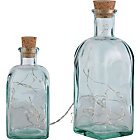 more details on Collection Pair of Square Bottle Lights - Clear.