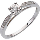 more details on Miracle Sparkle 9ct White Gold 0.10ct Diamond Solitaire Ring