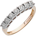 more details on Miracle Sparkle 9ctGold Illusion Set 0.12ct tw Eternity Ring