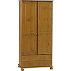 more details on Richmond 2 Door 2 Drawer Wardrobe - Antique Pine.