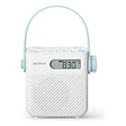 more details on Sony ICFS80 Analogue FM/AM Shower Radio - White